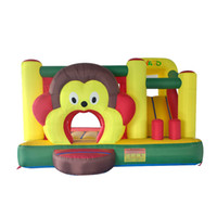 Wholesale Inflatable Monkeys - YARD In Stock For Sale Cartoon Monkey Inflatable Bouncer Bouncy Castle Jumper Combo For Family Party