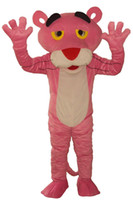 Wholesale Black Panther Mascot - 100%as the picture, Free Shipping New Pink Panther Mascot Costumes Fancy Dress Suit Halloween Cartoon Cosyplay Adult Size+Cardboard head