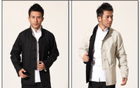 Wholesale Hanfu Clothes - Tang suit men on both sides of cotton linen men's hanfu costume leading the clothing in the spring and autumn coat