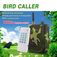 control remoto de mp3 de aves al por mayor-Al por mayor-150Db 1000M Control remoto Caza Altavoces USB MP3 Aves Llamador de pato Señuelo Animal Bird Llamadas de sonido Caza TF USB Mp3 NEWGOOD