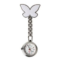 Wholesale Green Medicals - 10% 10 Pieces Metal Nurse Watch Butterfly Charm Women Medical Military Brooch Red Cross Analog Quartz Doctor Watch