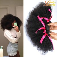 Barato Weave Do Cabelo Humano Para A Venda-Hot Selling 8A peruano Afro Kinky Curly Hair Weave 3 Bundles Afro Kinky Curly Hair Longjia Empresa Produtos Extensões de cabelo humano