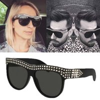 Wholesale Adult Building - 0147 Luxury Brand Sunglasses 0147S Large Frame Elegant Special Designer with Diamond Frame Built-In Circular Lens Fashion Style Women Man