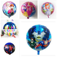 Wholesale Wedding Coats For Kids - Mickey Balloon Superhero Cartoon Helium Foil Balloons Spiderman toy Ballons For Kids Birthday Wedding Party Decoration Balloon 45*45cm