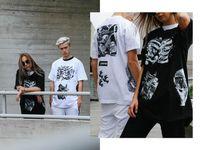 Wholesale Black Artist Prints - Fashion Europe Holland box logo MC ESCHER Collab artist summer Skateboard tshirt Men Women Street t-shirt Tee