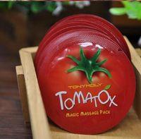 Wholesale Tonymoly Wholesale - 2000pcs lot Korea Original Tonymoly Tomatox Magic Massage pack whitening moisturizing 3 minute effective mask Cream 1ml DHL Free Shopping
