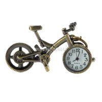 Wholesale Bicycle Necklace Watch - Wholesale-Retro Mini Bronze Bike Bicycle Design Quartz Pocket Watch Pendant Necklace Chain Worldwide Store