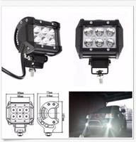 luz de inundación ip67 al por mayor-18W 6LED * (3W) CREE LED Barra de luz de trabajo Offroad SUV ATV Haz de inundación 1600lm IP67 JEEP Motocicletas de cabeza