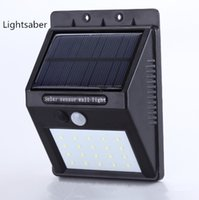 Wholesale Outdoor Led Motion Flood Lights - 20LED Solar Powered Motion Sensor Light Outdoor Solar Led Flood Lights Spotlights Garden Patio Pathway Lamps Emergency Lighting