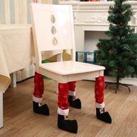 Wholesale Table Chair Leg Cover - Christmas Chair Leg Foot Cover Table Christmas Decoration for Party Dinner Red Desk Cover Decor 40 *21cm Décor YYA667