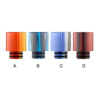 Wholesale Ecig Stainless - Ecig TFV8 Baby Clearomizer Mouthpiece 510 Thread Epoxy Resin drip tip stainless steel metal drip tips for TFV8 baby Cloud Beast 510 Atomizer