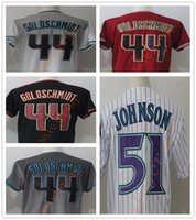 Cheap New Wholesale Jersey 44 Paul Goldschmidt Custom 51 Randy Johnson Hombres Lady Kid Negro Rojo Blanco Gris Cool Flex Base Jerseys