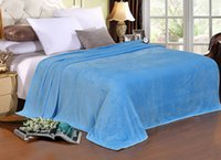 Wholesale Wholesale King Bedding - Fleece Blanket Fashion New Solid Bedding Blanket