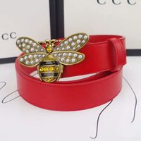 Wholesale Car Bee - GG Brand Womens Belts Luxury Cow Leather Designer Belt High Quality Ceinture Little Bees thin belts Real Leather Belt for Women