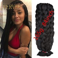 Wholesale ultra braids resale online - HOT SALE Synthetic Braiding Hair inch grams single color Premium Ultra Braid Kanekalon jumbo braid Hair Extensions