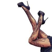Wholesale Hot Sexy Pantyhose - Wholesale- Women Sexy Charming Floral Pattern Fishnet Pantyhose 2016 Hot