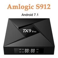 tv box miracast großhandel-3G 32G Amlogic S912 Octa Core Android 7.1 TV Box 2.4 / 5.8G WiFi Set-Top Box Unterstützung 4K x 2K, 3D, Miracast, Airplay TX9 Pro