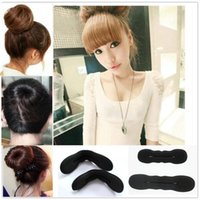 2PCS Sponge Clip Foam Donut Hair Styling Bun Curler Tool Maker Twist New HQ # T701.