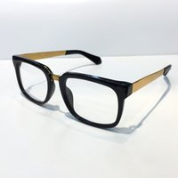 Wholesale Square Glass Plates - MOD5165 Medusa Glasses Prescription Eyewear Vintage Frame Men Brand Designer Eyeglasses With Original Case Retro Design Gold Plated