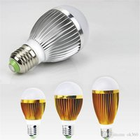 Wholesale E27 18w Cree Globe - Golden Silver led globe bulb E27 GU10 B22 Warm White White led bulbs 3W 5w 7w 9w 12w 15w 18w led lights bulbs AC85-265V