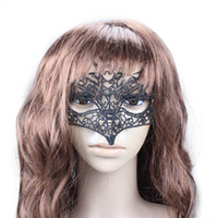 New Fox Black Sexy Lace Venetian Half Flower Eye Mask Masquerade Costume Party Mask Halloween Christmas