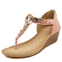 Wholesale Stylish Women Sandals - Summer Women Shoes Wedge Heelscrystal Comfortable Breathable Stylish Seaside Beach Women Sandals Pasoataques Brand Women Casual Shoes