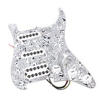 Wholesale Guitar Prewired - Loaded Prewired Pickguard SSH Single-coil Pickup for Strat ST Guitar