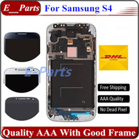 Wholesale Display Screen Galaxy S4 - 100% New Grade AAA For Samsung Galaxy S4 i9500 I337 M919 I545 I9502 I9505 E300K E300S LCD Assembly Display Screen Replacement with Frame