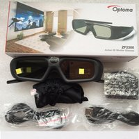 Wholesale Optoma 3d For Glasses - Wholesale- 1set original ZF2300 Active RF 2.4G bluetooth 3D Glasses only For Optoma VESA 3D Projector HD26 3DW1 HD33 HD25 HD25E Emitter