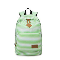 Fashion Strips Canvas Backpack Meninas Korean Schoolbag Mochila Saco Pop Creative Travelling Flap Mochila China Manufacturing