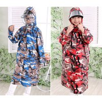 2017 Top Grade Girls Raincoat Camouflage Poncho Bambini Raincoat Ragazzi Ragazze Rainwear Bambini Rain Coat Esterno Travel Rain Gear