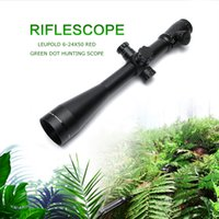 Wholesale Leupold Red Green - Leupold MARK 4 6-24X50 M1 Optics Riflescope Long Eye Relief Rifle Scope Red and Green Dot Fiber Reticle Sight For Rifle Hunting
