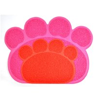 Wholesale Best selling pad pet foot shaped pvc placemat cheap price mat