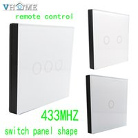 Wholesale Wireless Remote Electric Switch - Wholesale- Vhome RF 433MHZ wireless Glass panel remote control,Switch shape control for Touch switches, garage doors, electric curtains