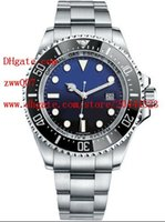 Wholesale 44mm Mens Luxury Watches - Factory Supplier Luxury AAA Brand ceramic bezel stainless steel d-BLUE seadweller 116660 44mm Automatic Mechanical Mens Men's Watch Watches