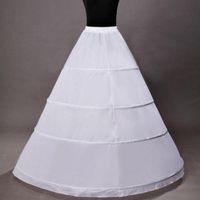Wholesale Dress Bone Hoop - Hot sale 4 Hoop Ball Gown Bridal Petticoat Bone Full Crionline Petticoat Wedding Skirt Slip New H-4 underskirt dress