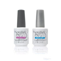 Wholesale 15ml Gelish gel Polish Top it off and Foundation LED UV Gel nail polish base coat and top coat Nail art high quality