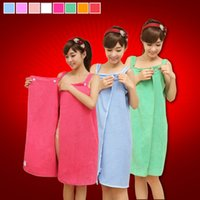 Wholesale Towels Bathrobe For Adult - Variety Magic Creative beach towels bath towels for women colorful microfiber towel skirt Bathrobes Soft and absorbent de plage 0711016