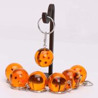 toka topları toptan satış-Anahtar Toka Yedi Dragon Ball Yüzük Wukong Asılı Tokalar Anahtarlık Kolye Karikatür Oyuncaklar Çocuklar Koleksiyonu Için Doğum Günü Hediyesi 28mj H1