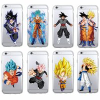Manga Comics Dragon Ball Saiyan Goku Vegetto Gohan funda de teléfono suave para iPhone 7 7Plus 6 6S 6Plus 5 8 8Plus X SAMSUNG