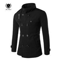 Wholesale Designer Hood Coats - Wholesale- New Fashion Mens Designer Mans double breasted Trench Coat Hood Trench Coat Men Casual Jackets turn-down collar Windbreak coat