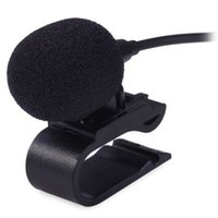 Wholesale Computer Car Radio - 3.5mm Inerface External Microphone Mic for Car DVD Radio Laptop Stereo Player HeadUnit Cable 3m