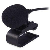 araba radyosu için mikrofon toptan satış-3.5mm Inerface Harici Mikrofon Mikrofon Araba DVD Radyo Dizüstü Stereo Çalar için HeadUnit Kablo 3 m