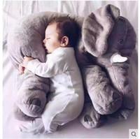 brinquedo gigante de elefante venda por atacado-Crianças Brinquedos 2017 Moda elefante Gigante Brinquedos De Pelúcia Bonito Bebê Travesseiro Elefante De Pelúcia Animais Boneca Brinquedos 60 cm ER-908