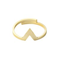 Wholesale V Ring Size - Wholesale 10Pcs lot Free Shipping 2017 Fashion Midi Rings Simple Jewelry Stainless Steel Ring Chevron V Adjustable Gold Filled Rings