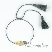 Wholesale Wholesale Uae - tassel bracelet set hamsa bracelet yoga jewelry hamsa jewelry uae hamsa mens bracelet