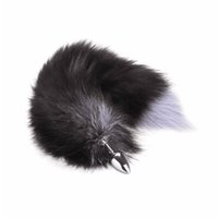 Wholesale Tail Butt Sm - Wild Chrome-plated Steel Fox Tail Butt Anal Plug Romance Insert SM Special Sex Toy for Adult Cospaly