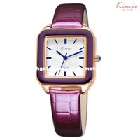 Wholesale Kimio Brand For Watch - KIMIO Ladies Fashion Bright Color Square Dial Luxury Brand Women's Watches Leather Female Watches Women Wrist Watch For Women