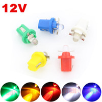 Wholesale Car Lighting T5 Bulbs - 1X Car B8.5d T5 1 LED 12V W3W W1.2W Dashboard Instrument Light
