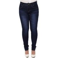 Wholesale Wholesale Color Jeans - Wholesale- 2017 Winter autumn fashion brand plus size 5XL jeans blue color casual women denim pants woman pencil jeans trousers L-5XL C0892